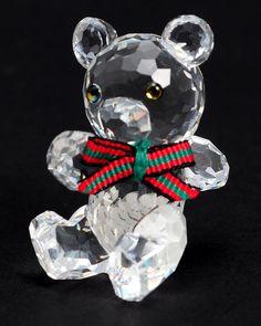 Swarovski My mother gave me this one for my big I collect bears. Swarovski Ornaments, Swarovski Crystal Figurines, Swarovski Crystals, Glass Artwork, Big 5, Blown Glass, Sparkles, Christmas Bulbs, Art Pieces