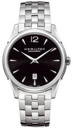 Hamilton Watch American Classic Jazzmaster Slim #bezel-fixed #bracelet-strap-steel #brand-hamilton #case-material-steel #case-width-43mm #date-yes #delivery-timescale-7-10-days #dial-colour-black #gender-mens #luxury #movement-automatic #official-stockist-for-hamilton-watches #packaging-hamilton-watch-packaging #subcat-american-classic-jazzmaster #supplier-model-no-h38615135 #warranty-hamilton-official-2-year-guarantee #water-resistant-30m