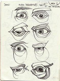 boceto ojos