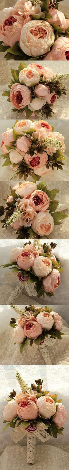Bridess Artificial Peony Silk Flowers Bouquet Home Wedding Decoration (Champagne) Diy Wedding Bouquet, Diy Wedding Flowers, Floral Wedding, Wedding Ideas, Wedding Stuff, Silk Flower Bouquets, Bride Bouquets, Silk Flowers, Silk Peonies