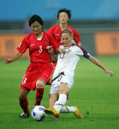 Kristine Lilly vs. North Korea, 2007 World Cup, Sept. 11, 2007, Chengdu, China.  (Ronald Martinez/Getty Images)