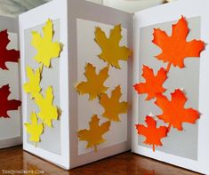 Learn how easy these beautiful Fall Leaf Paper Lanterns are to make with Your Cricut, Cardstock, & Vellum! Perfect budget-friendly decoration for Fall! Paper Lantern Making, Paper Lanterns, Changing Leaves, Vellum Paper, Tea Candles, Cricut Design, Autumn Leaves, Tea Lights, Fall Decor
