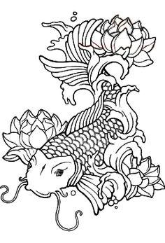Koi And Lotus Flower