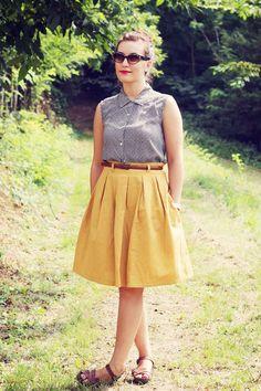 :: paunnet ::: Last of my summer sewing : Yellow Chardon skirt