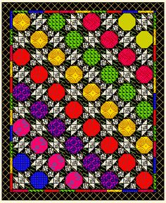 Snowball Blocks in Quilts    Quilts made with Snowball Blocks    plus Attic Window, 54-40, Eccentric Star or Ohio Star