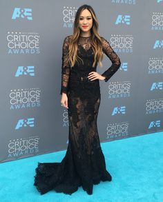 Made in Hollywood' host and actress Kylie Erica Mar wore a gown by Mac Duggal (Style #20014) on the Red Carpet while attending the 21st Annual Critics' Choice Awards at Barker Hangar on January 17, 2016 in Santa Monica, California! https://www.macduggal.com/