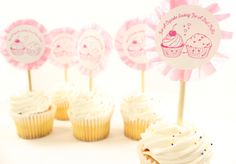Ruffled Valentine Cupcake Toppers