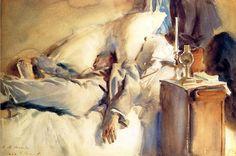 """Peter Harrison Asleep"" John Singer Sargent"