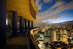 Edifício Viadutos, by architect João Artacho Jurado in the 1950's is one of the architectural gems in central São Paulo, with great views over the city.