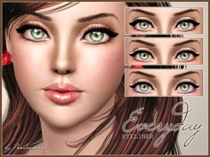 Everyday Eyeliner by Pralinesims at The Sims Resource - Sims 3 Finds