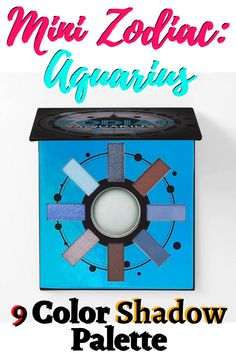Invoke your unique charm with our Mini Zodiac: Aquarius - 9 Color Shadow Palette, featuring an array of breathtaking blues, rich brown and icy white shades of twilight. The ultra-pigmented mattes, shimmers and one baked shadow blend beautifully to achieve endless celestial effects. Pair with a White Marble Brush Set and Eyelights Eye Topper in Chill Pill for the ultimate cool effect.  #eyeshadows #afflink #eyeshadowpalette #make-up Eyeshadows, Eyeshadow Palette, Chill Pill, Aquarius Zodiac, Natural Make Up, Bh Cosmetics, Wedding Make Up, White Marble, Brush Set