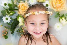 Girl Milkbath Photography Flowers