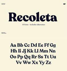 Recoleta Font Family from Latinotype Read more. Web Design, Font Design, Graphic Design Fonts, Graphic Design Inspiration, Branding Design, Typography Letters, Typography Logo, Typographie Inspiration, Typeface Font