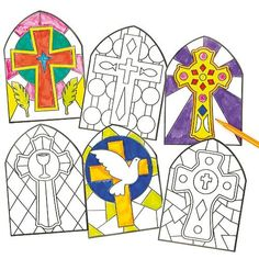 Colour your own stained glass window decorations with these great kits. Great #kids craft for school or at home - now available at amazon.com