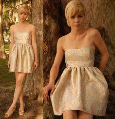 Strapless Brocade Rococo Dress. $100.00, via Etsy.