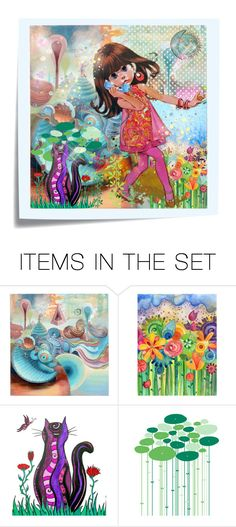 """Dial 888 to Revisit Wonderland"" by frism ❤ liked on Polyvore featuring art, wonderland and fairy tales"