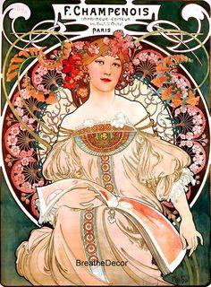Alphonse Mucha Art Print Digital Download File