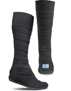 TOMS Shoes Black Vegan Wrap Boots for when I'm a Ninja - buy shoes, style shoes store, zapatos shoes *ad Mode Outfits, Fashion Outfits, Womens Fashion, Runway Fashion, Fashion Fashion, Fashion Trends, Fashion Spring, Vegan Wraps, Cheap Toms