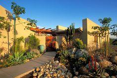 Southwest Style Strawbale Home - Mediterranean - Entry - san diego ...