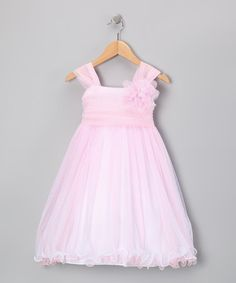 Take a look at this Pink Layered Flower Dress - Toddler & Girls by Easter Outfits: Fancy Kids' Apparel on @zulily today!