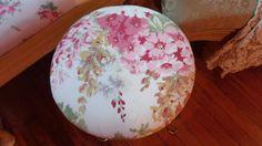 Vintage shabby chic vanity stool
