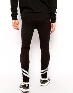 Image 2 of ASOS Meggings With Reflective Stripes