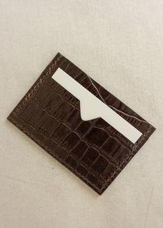 Sorént Oslo | Croc Cardholder Dark Brown | Women's Accessories Oslo, Italian Leather, Hand Stitching, Crocs, Women's Accessories, Dark Brown, Card Holder, Rolodex, Women Accessories