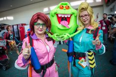 The Real Ghostbusters (aka the cartoon) cosplay! Love the gender-swapped Egon.