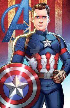 Here is my take on Chris Evans as Captain America from Captain America: Civil War. Marvel Fan Art, Marvel Heroes, Marvel Characters, Marvel Avengers, Captain America Pictures, Captain America Civil War, Arte Indie, Avengers Wallpaper, Disney Fan Art