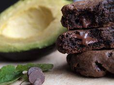 Triple dark chocolate avocado mint cookies