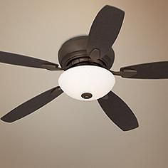 "52"" Casa Wet Habitat™ Bronze Hugger Ceiling Fan"