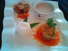 Pearl Soup, Fu yung hay and Rollade Beef.