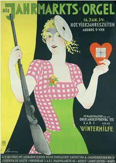 By Walter Schnackenberg (1880-1961), 1934,  Die Jahrmarkts-Orgel.