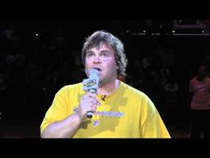 ▶ Jack Black Sings the National Anthem at Sparks Game - YouTube   What a surprise! He does this well without a lot of fanfare or modification.