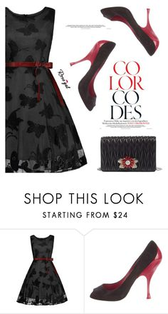 """butterfly dress"" by divna2 ❤ liked on Polyvore featuring Miu Miu"