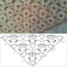 M - Salvabrani - SalvabraniHow to Crochet a Headband Poncho Au Crochet, Crochet Shawl Diagram, Crochet Shawls And Wraps, Crochet Quilt, Crochet Chart, Crochet Scarves, Crochet Motif, Crochet Lace, Crochet Symbols