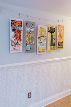 jonathan alder greek key wallpaper and concert posters by mile 44 hung by ikea picture