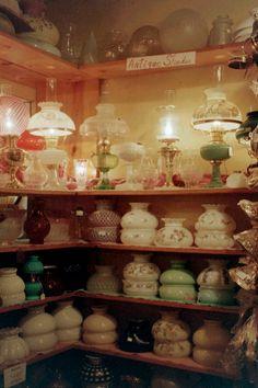 Lamp Shop Pictures Page 2 Antique Hurricane Lamps, Hurricane Lamp Shade, Hurricane Oil Lamps, Antique Oil Lamps, Antique Glassware, Fenton Glassware, Vintage Light Fixtures, Vintage Lamps, Small Lamp Shades