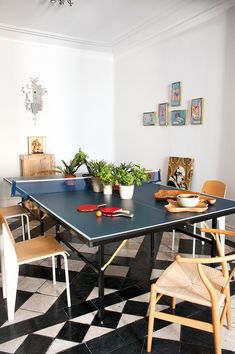 Jean Prouve cultfurniture + table tennis dining table ping pong!