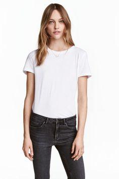 Camiseta de algodón - Blanco - MUJER | H&M ES 1
