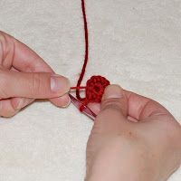 Another option is to make a magic ring, sometimes called a slip ring, adjustable ring, magic loop, or magic ring. The magic ring is an adjustable loop that lets you pull the loop tight to close up the hole in the center of your work or to control the size of the center. This option can be used for crocheting hats, amigurumi, granny squares, flowers, and other motifs.