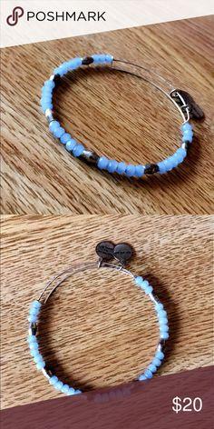 Blue beaded Alex and Ani bracelet Make me an offer 😊 Alex & Ani Jewelry Bracelets