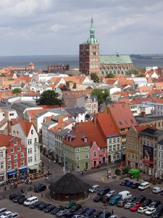 New Market, and St. Nikolai church in Stralsund