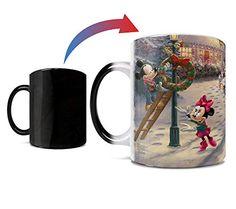 Disney Mugs, Disney Mickey Mouse, Minnie Mouse, Thomas Kinkade Disney, Christmas Material, Disney Colors, Victorian Christmas, Cute Mugs, Christmas Mugs