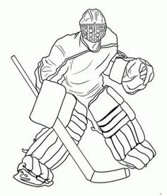 hockey goalie coloring pages printable and coloring book to print for free. Find more coloring pages online for kids and adults of hockey goalie coloring pages to print. Hockey Tournaments, Hockey Goalie, Hockey Mom, Hockey Teams, Hockey Players, Hockey Girls, Sports Coloring Pages, Coloring Pages For Boys, Colouring Pages