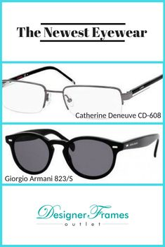 b7fe4f2bb8 Catherine Deneuve CD-608 Eyeglass Frames and Giorgio Armani 823 3 Sunglasses.  Looking