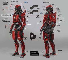 Robot artwork design from Elysium: The Art of the Film.