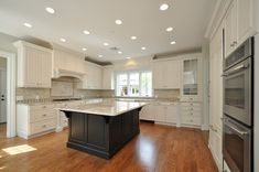 white cabinets with black