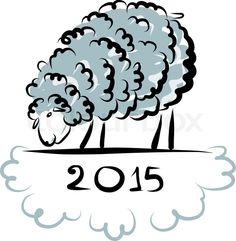 Stock vector of 'Sheep sketch, symbol of new year 2015. Vector illustration'