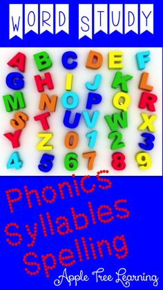 Working with Words!  Phonics, syllables and spelling activities, lessons, and games.